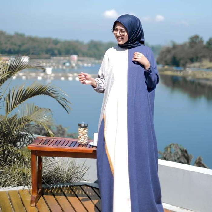 Jual Ash Kaftan Dress By Shararea Kota Banjarmasin Felisyhazahira Tokopedia