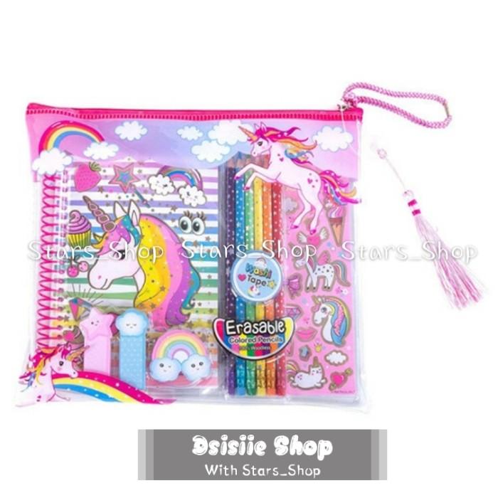 Jual Alat Tulis Anak Karakter Unicorn Set Alat Tulis Unicorn New Original Jakarta Utara Dsisiie Shop Tokopedia