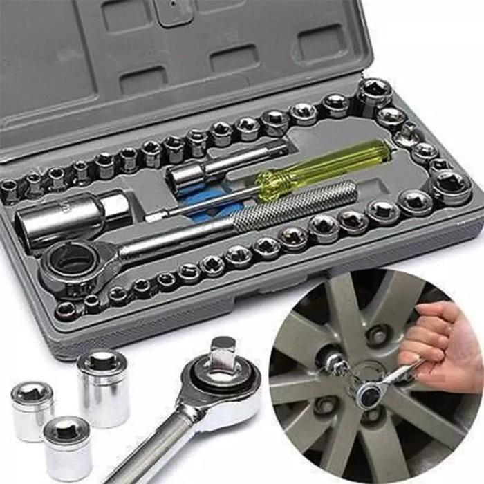 Foto Produk kunci shock socket sok wrench mobil set 40 pcs in 1 original import dari Bhaskara Jaya