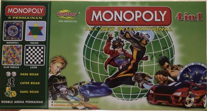 Foto Produk Monopoli 4 in 1 Monopoly All International Ular Tangga Halma Catur dari Lumi Toys