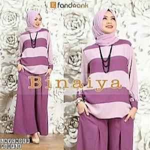 Foto Produk Gamis / Baju / Pakaian Wanita Muslim Binaiya syari set 3in1 dari FERI'S TOKO
