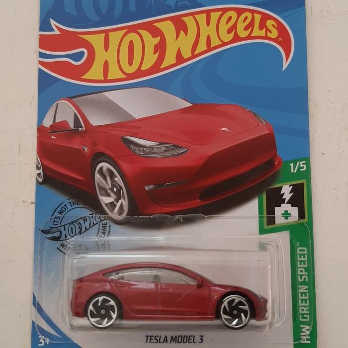 Jual Hot Wheels Tesla Model 3 Kab Malang White Inc Tokopedia