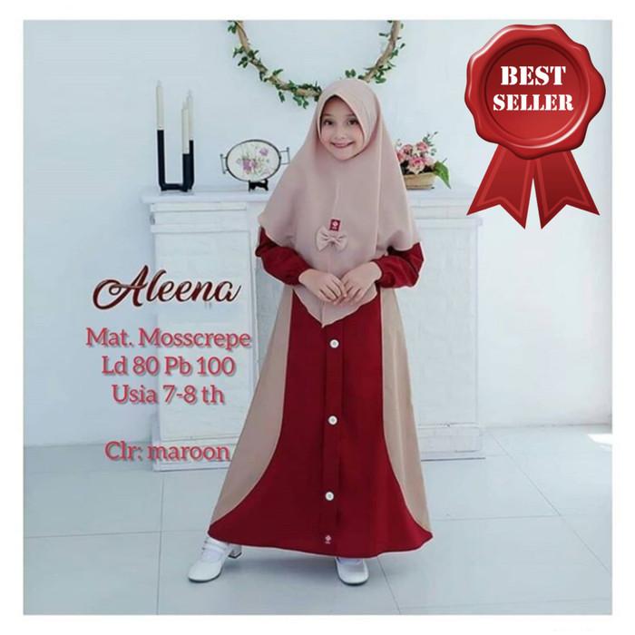 Foto Produk BAJU MUSLIM GAMIS ANAK PEREMPUAN SYARI USIA 7-9 TAHUN ALEENA KIDS dari Nanda Fashion Shop