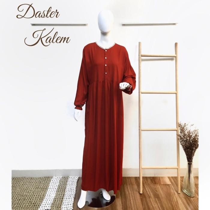 Foto Produk Daster Kalem by Daster Fifi - Merah Bata dari Mabel's shop