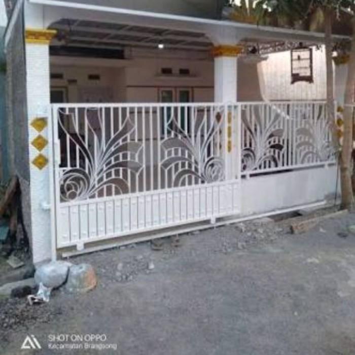 Jual Pagar Dorong Minimalis Motip - Putih - Kab. Bekasi - Sanusilas |  Tokopedia
