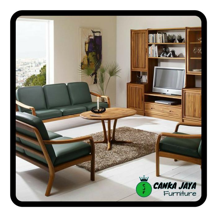 Jual Set Kursi Meja Tamu Sofa Minimalis Model Unik Murah Kayu Jati Kab Jepara Canka Jaya Furniture Tokopedia
