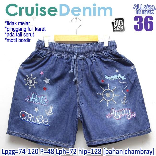 Foto Produk Cruise Denim fit size 36 Celana Pendek Wanita Jeans Santai Di Rumah dari Mali BigSize Clothing