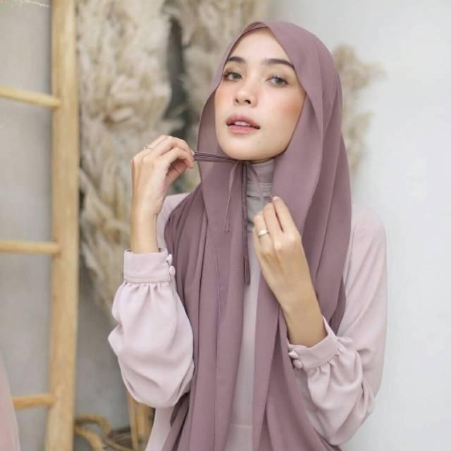 Jual Jilbab Hijab Pashmina Tali Ceruty Babydoll Maron Kab Sidoarjo Ori Hijab Tokopedia