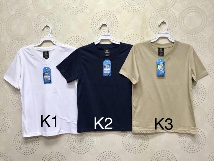 Foto Produk Kaus/Kaos/Tshirt/Oblong V Polos Santai Adem Anak Laki/Perempuan K4 dari Daily Style89