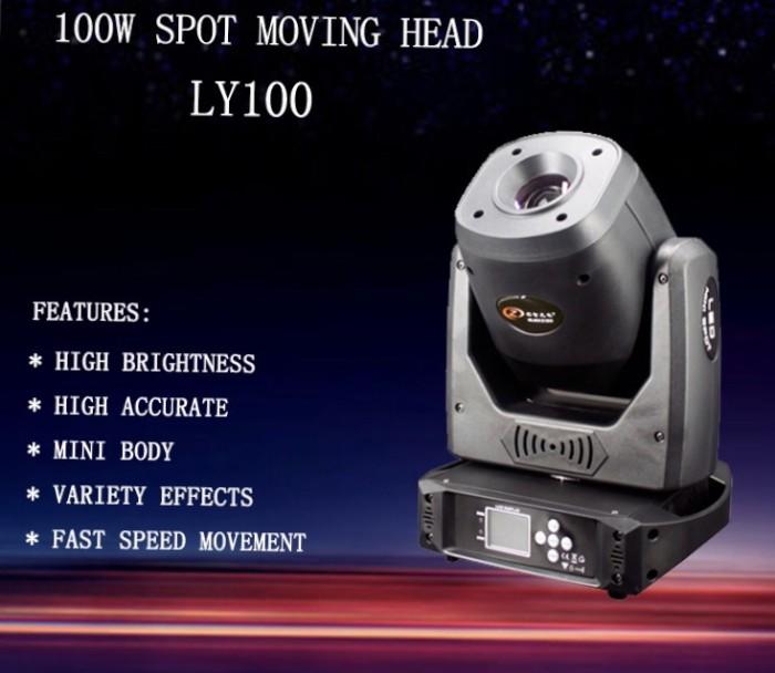 Foto Produk 100W Led Mini Moving Head Spot Light Disco Stage Lighting DJ Club dari DUNIA LAMPU LIGHTING