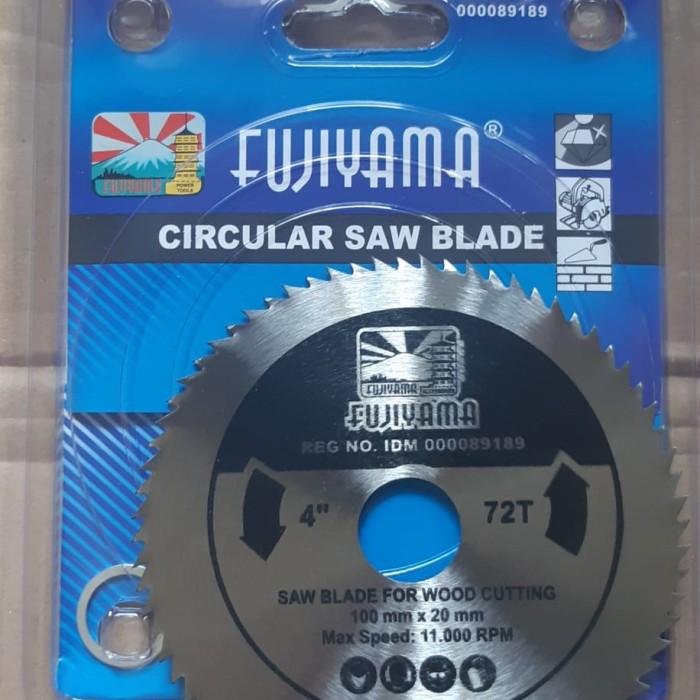 Foto Produk Saw Blade 4 x 72 T / mata potong gurinda spesialis kayu Fujiyama dari Ali baba. Com