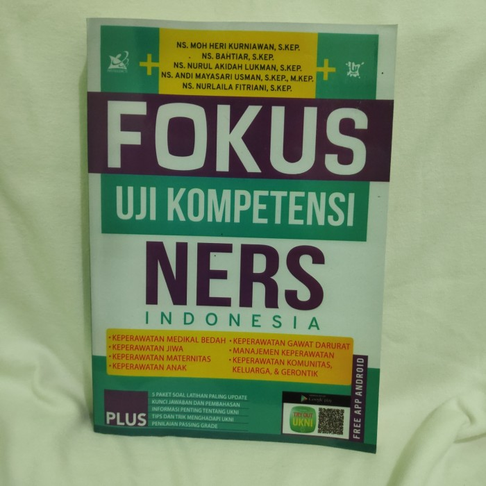 Jual Fokus Uji Kompetensi Ners Indonesia Kota Yogyakarta Divisishop Tokopedia