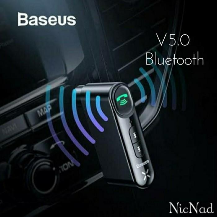 Foto Produk Baseus Car Bluetooth Receiver Aux 3.5mm Wireless Audio Receiver - Hitam dari NicNad Digital Store