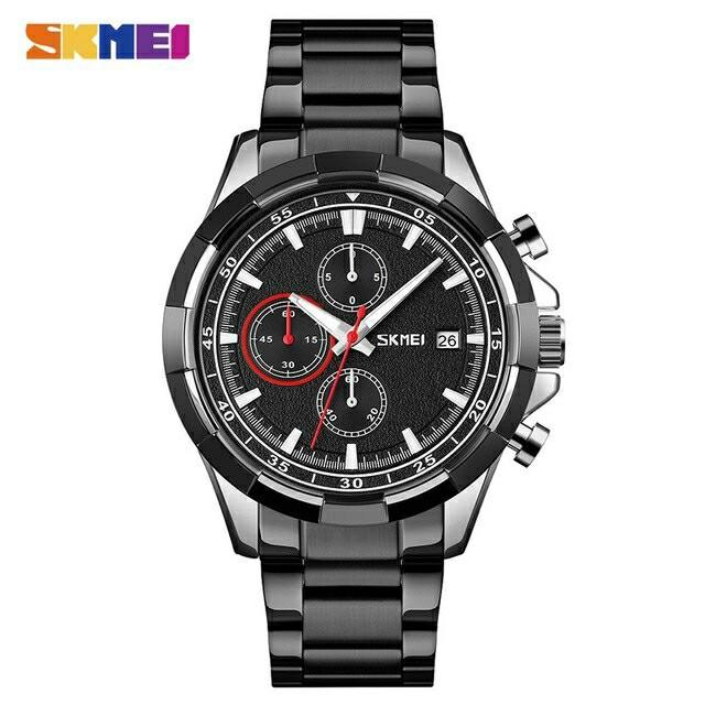 Foto Produk Jam Skmei 9192 original chronograph - Black Silver dari SKMEI GROSIR