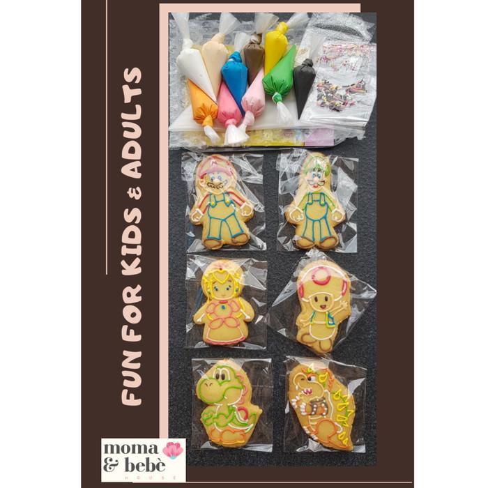 Foto Produk PREMIUM BUTTER COOKIES DIY DECOR KIT - HOMEMADE (isi 6) dari Moma & Bebe House