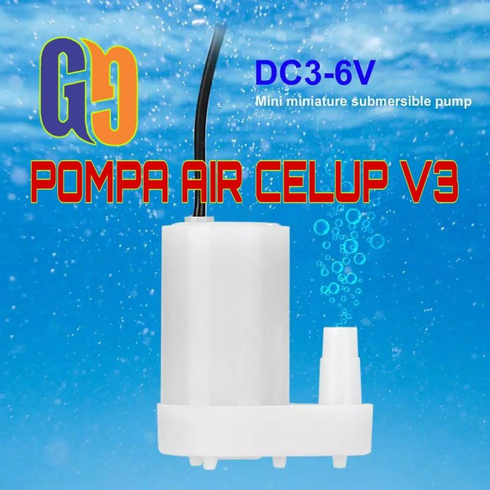 Foto Produk Pompa Air Celup V3 DC Mini Aquarium Hidroponik Submersible Pump dari GG outlet