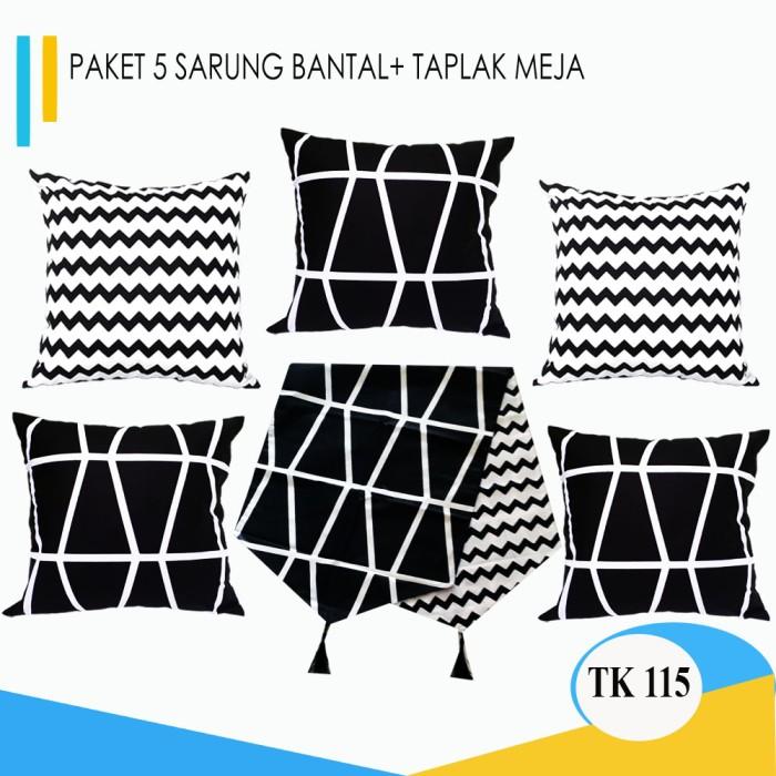 Foto Produk Paket PROMO Sarung Bantal 5 Pcs + 1 Taplak Meja dari pondok aren shop