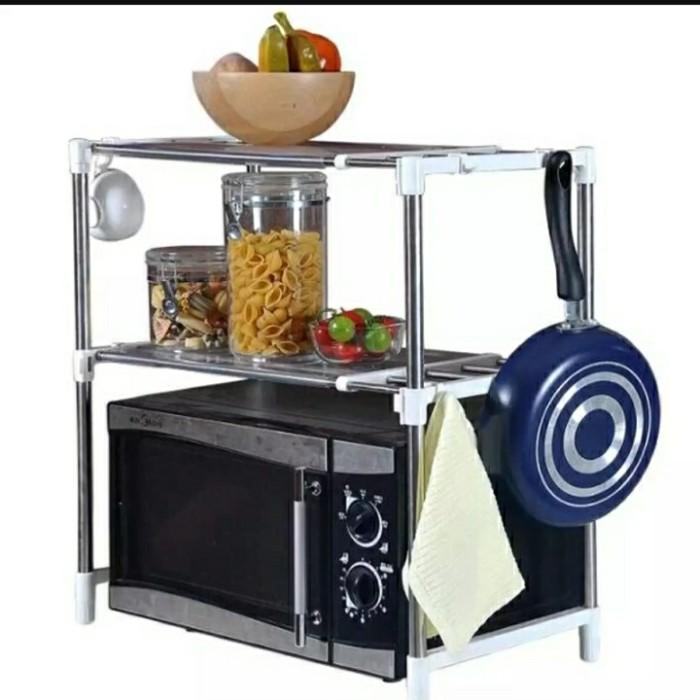 Foto Produk Microwave Storage Rack Rak portable serbaguna 2 susun dari jkgrosir