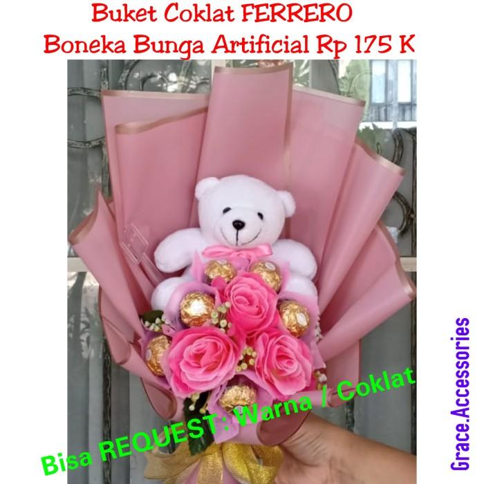 Jual Buket Bucket Bunga Mawar Coklat Ferrero Boneka Hadiah Kado Pacar Kota Tangerang Selatan Pohon Natal Rohani Grace Tokopedia