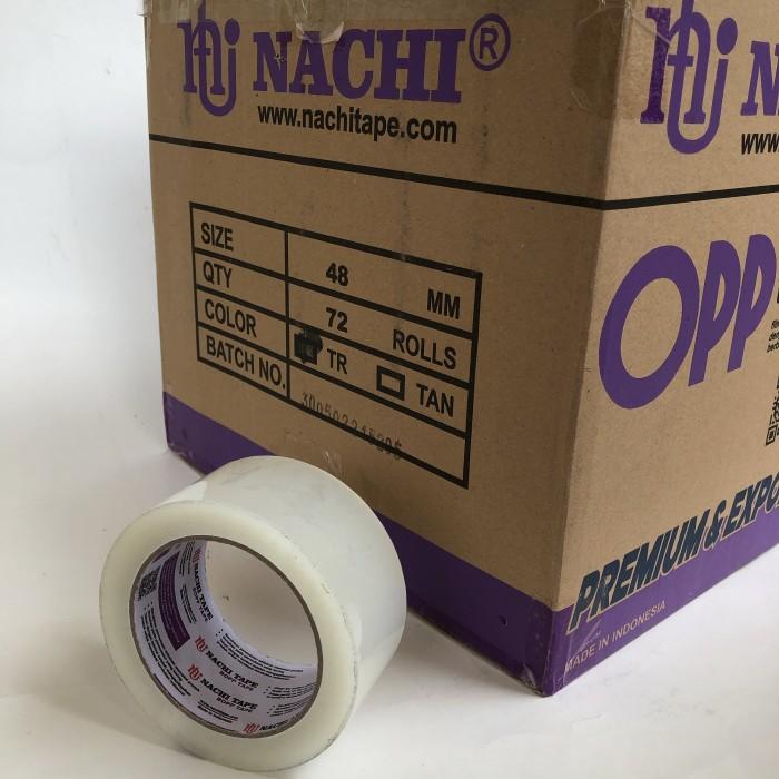 Foto Produk lakban bening NACHI 48mm [1 dus = 72 pcs] dari Toko LuShan