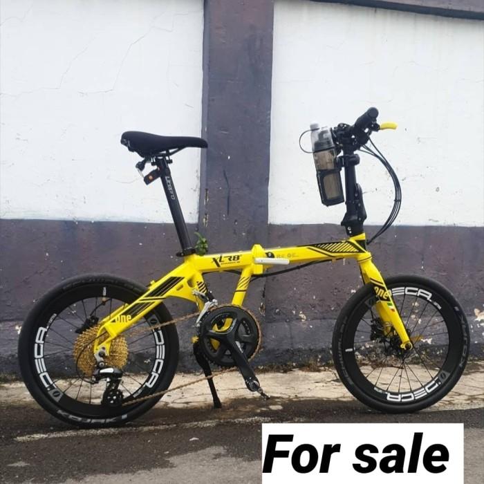 Jual Sepeda Lipat Xlr8 2x8sp Bumble Bee Kuning Full Modifikasi Kab Banyumas Muscle Fit Wear Tokopedia