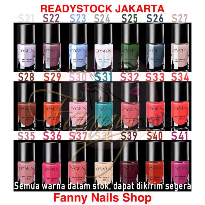 Jual Oyafun 8ml Nail Polish Halal Kuteks Kuku Peel Off Nail Gel Oyafun Kab Tangerang Fanny Nails Shop Tokopedia