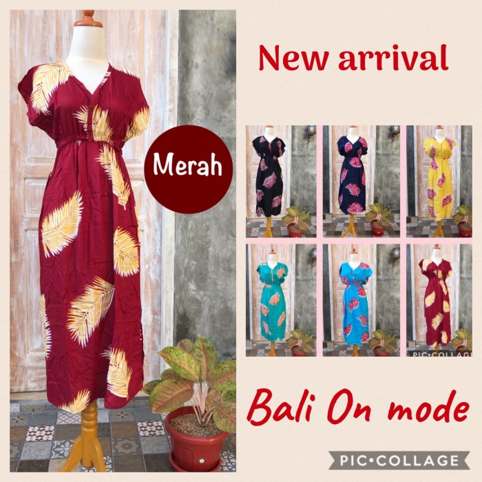 Foto Produk Daster Manohara Bali Panjang motif Daun Pakis dari Bali On Mode