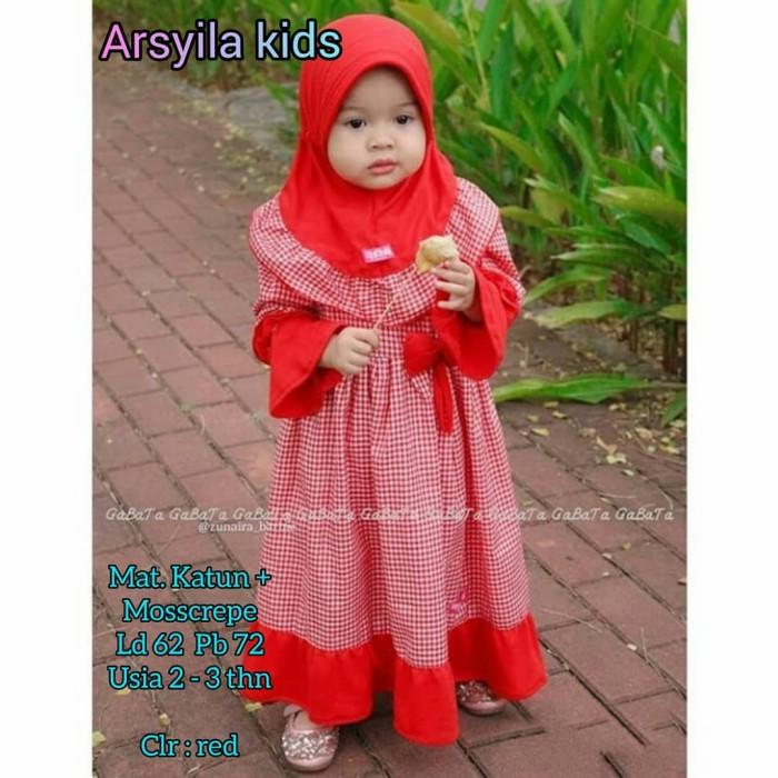 Foto Produk GAMIS ANAK USIA 2-3 THN BAJU MUSLIM ANAK PEREMPUAN SYARI ARSYILA KIDS dari Nanda Fashion Shop