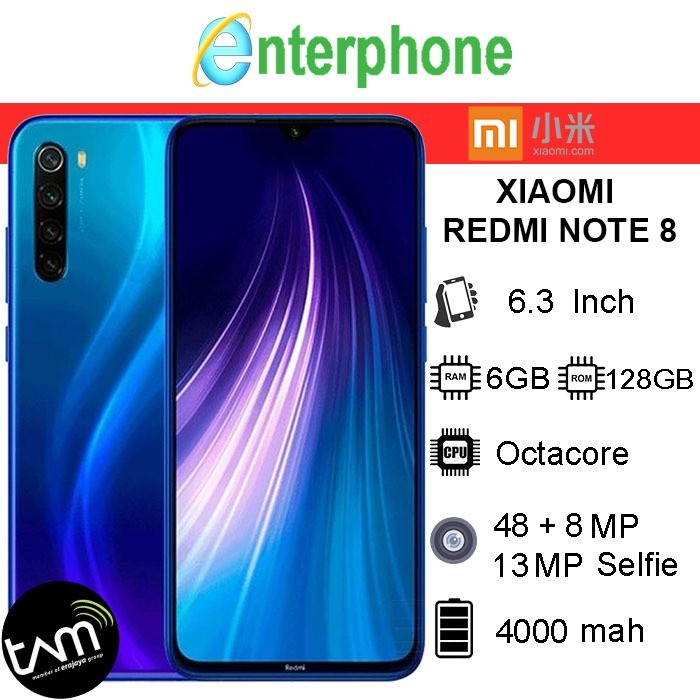 Foto Produk Xiaomi Redmi Note 8 6/128 Ram 6 Gb Rom 128 Gb Garansi Resmi - Hitam dari enterphone2