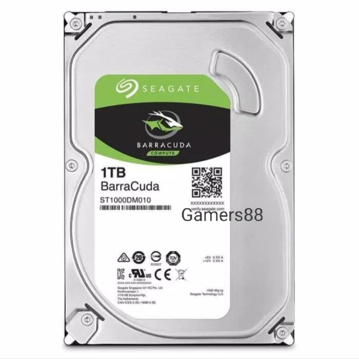 """Foto Produk Hardisk Seagate Internal PC 1TB HDD SATA 3.5"""" dari Gamers88"""