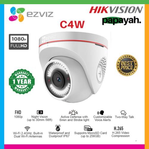 Foto Produk EZVIZ C4W 1080P OUTDOOR SMART WIFI IP CAMERA CCTV WITH ACTIVE DEFENCE dari Papayah