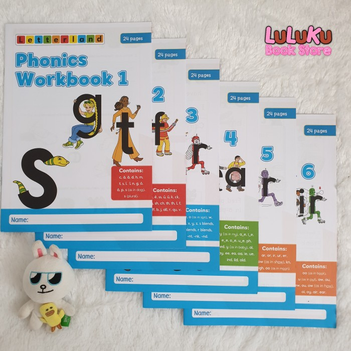 Foto Produk Buku Anak Import - Letterland : Phonics Workbooks Set (isi 6 buku) dari LuLuKu Book Store