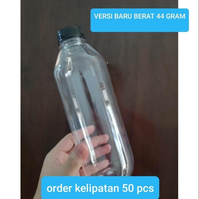 Foto Produk botol kale 1000 ml plastik tebel 1 liter PET 1000ml 1liter - Putih dari Grosir Produk Plastik