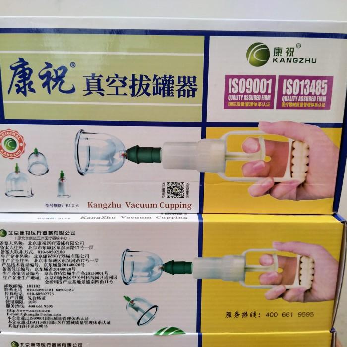 Foto Produk Alat Bekam 6 Pcs Tabung Vakum Bekam Original Kangzhu Berkualitas dari Seisdigital Shop