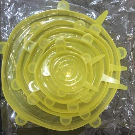 Foto Produk 6 in 1 Penutup Mangkok Makanan Kaleng Buah Elastis Stretch Bowl Cover - Kuning dari Dynamic Duo