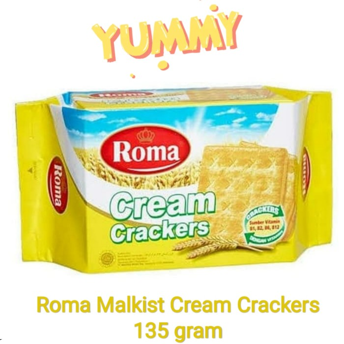 Foto Produk Malkist Cream Crackers (tawar) Roma 135gr dari snack_it