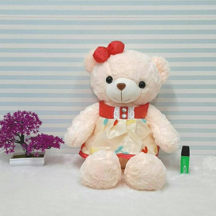 Cute Lamb Stuffed Animals, Jual Bear Dress Cherry 50cm Boneka Teddy Bear Boneka Beruang Jakarta Pusat Bear Online Tokopedia