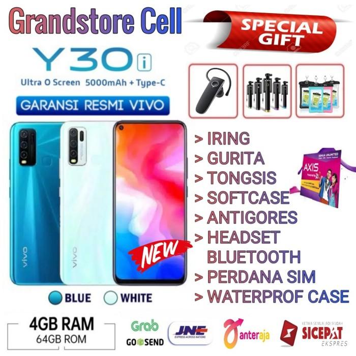 Foto Produk VIVO Y30i RAM 4/64 GB GARANSI RESMI VIVO INDONESIA - Biru No Bonus dari Grandstore cell