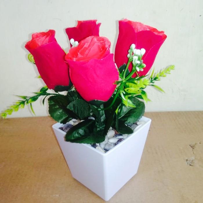 Jual Bunga Mawar Plastik Hiasan Meja Tanaman Artifical Kab Bogor Rinpai Store Tokopedia