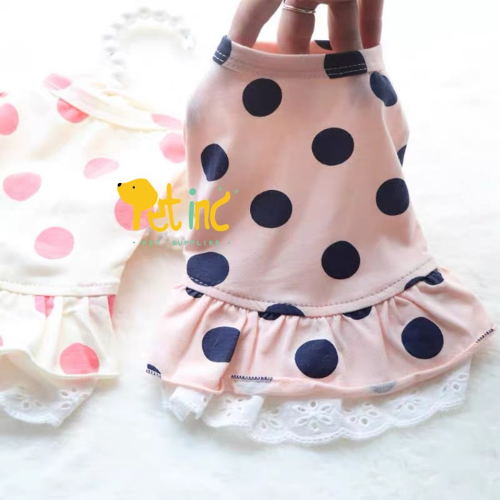 Foto Produk Elly mae polka dress - IVORY PEACH, L dari Pet8inc