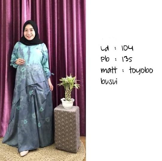 Jual Gamis Sasirangan Dress Baju Kota Banjarmasin Anna Khairina Tokopedia