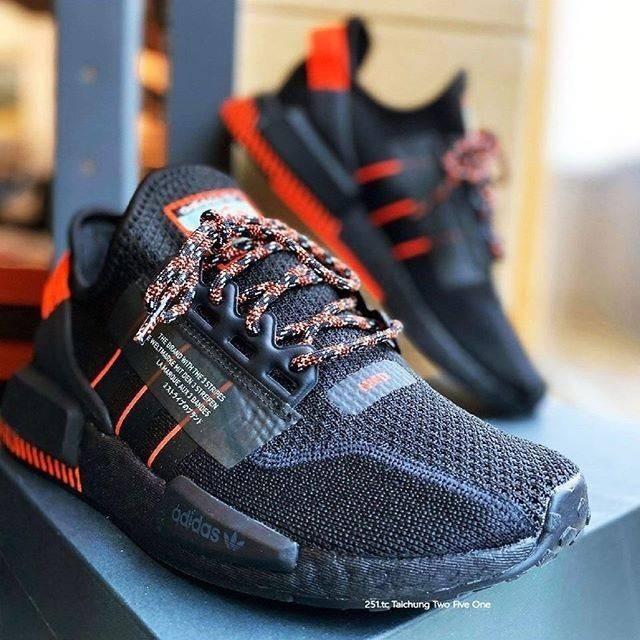 Jual Sepatu Adidas Nmd R1 V2 Black Solar Red Premium Import