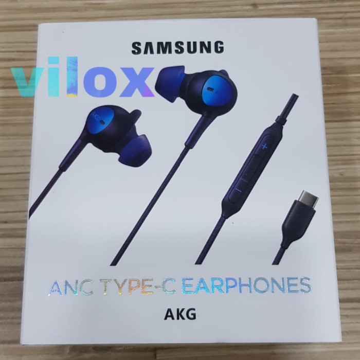 Foto Produk hf handsfree earphone samsung anc akg type c jack s note 10 20 plus dari Vilox