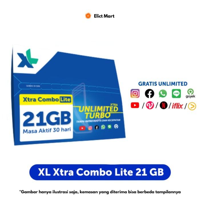 Jual Kartu Perdana Xl Xtra Combo Lite Kuota Hingga 21gb Xtra Unlimited Kota Bekasi Elict Mart Tokopedia