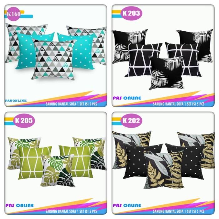 Foto Produk Paket Sarung Bantal Sofa 45 x 45 ( 5 Pcs Sarung ) dari pondok aren shop