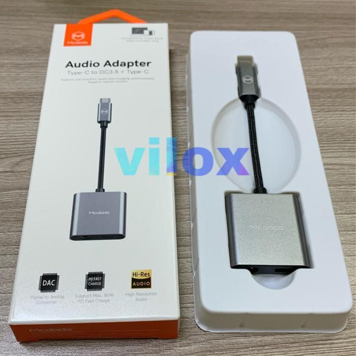 Foto Produk mcdodo adapter converter 60w type c to type c + jack 3.5mm note 10 s20 dari Vilox