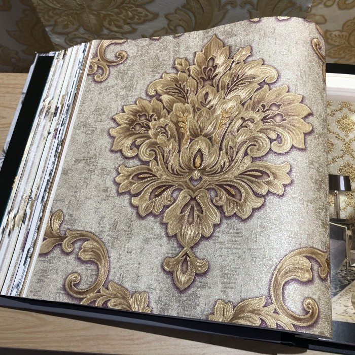 Jual Wallpaper Dinding Klasik 3D Timbul Gold Silver Mewah - Jakarta Utara - Mansion Wallpaper | Tokopedia