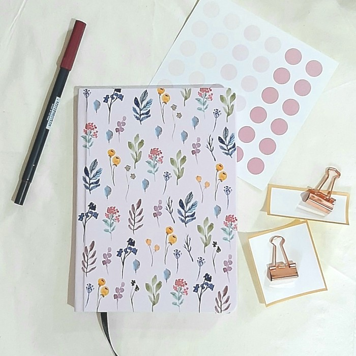 Foto Produk Dotted Notebook - Bullet Journal A5 - Spring Flower dari The Book ID