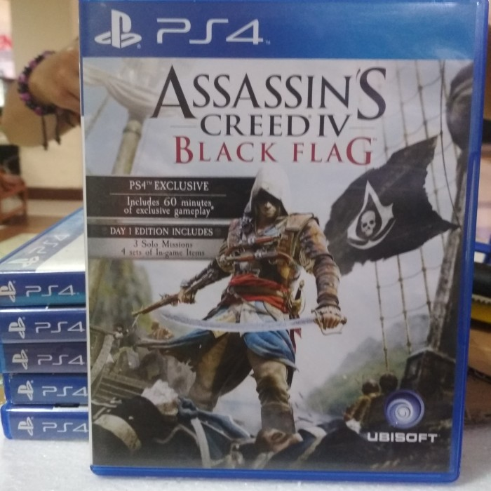 Jual Kaset Bd Ps4 Original Game Assassins Creed Iv Black Flag