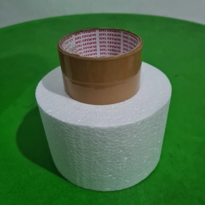 Foto Produk D15x10cm Gabus Styrofoam Bulat Dummy Cake dari ken-z